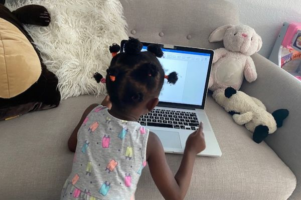 Photo: Child learning on a computer