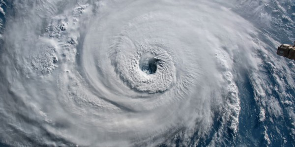 Photo: Satellite view. Hurricane Florence over the Atlantics close to the US coast.