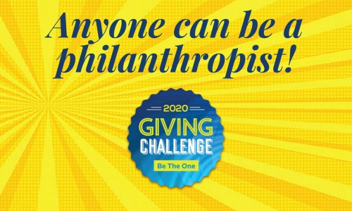 Photo: Giving Challenge 2020: Anyone can be a philanthropist!