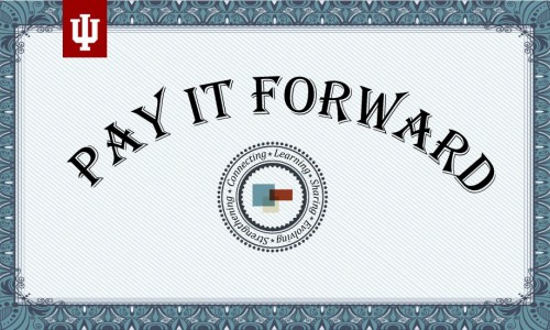 Photo: Pay It Forward certificate