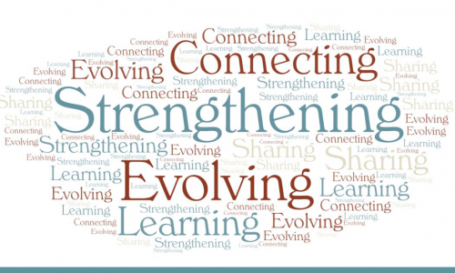 Photo: TPF's five Catalysts for Good :Connecting, Learning, Sharing, Evolving, and Strengthening