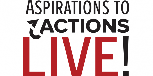 Photo: Aspirations to Actions logo with the word live beneath it