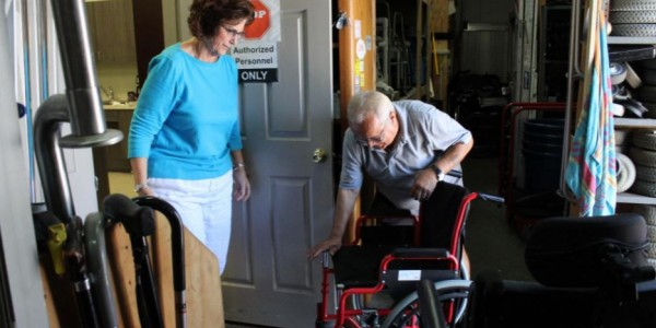 Photo: Margaret Ann Behrends and Ziggy Nosal of Suncoast Centers for Independent Living