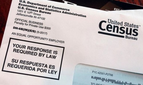 Photo: Census letter mailed to a U.S. resident