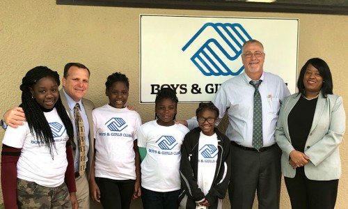 Photo: Ashley Coone with other folks from DeSoto at the Arcadia Boys & Girls Club