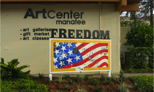 Guest Post: ArtCenter Manatee freedom mural brings military stories to life