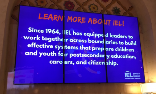 Photo: Sign from the IEL National Family and Community Engagement Conference
