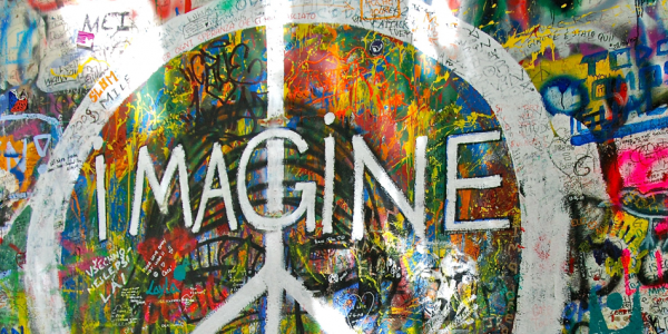 """Imagine all the people sharing all the world."" — ""Imagine"" by John Lennon"