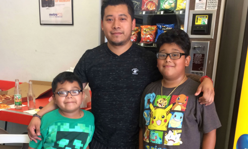 Jose Rojas with his two sons