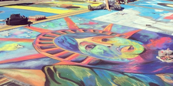 Sarasota Chalk Festival impresses crowds with images of valor