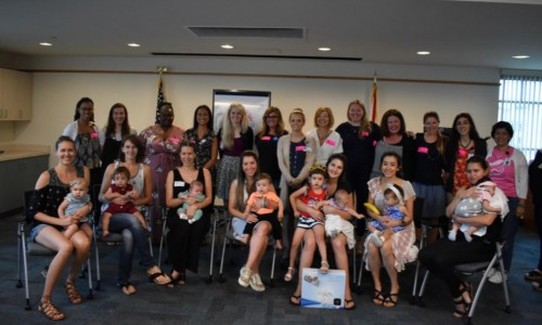 Photo: Mothers in Sarasota gathered to breastfeed together at the Big Latch On event. [Herald-Tribune staff photo / Anna Bryson]