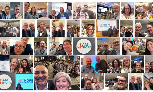 Photo: A picture collage from the NetHope Global Summit