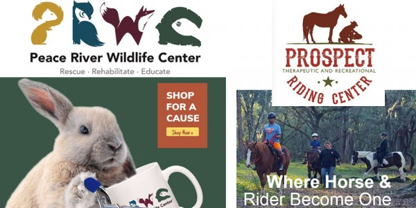 Peace River Wildlife Center and Prospect Riding Center's new logos