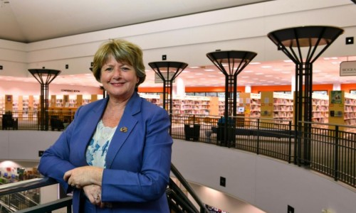 Photo: Sarabeth Kalajian, director of county libraries and historical resources, who is retiring at the end of the month