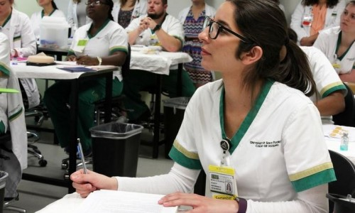 Photo: Students in USFSM's Nursing Program