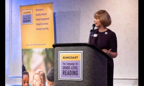 Photo: Beth Duda, director of the Suncoast Campaign for Grade-Level Reading