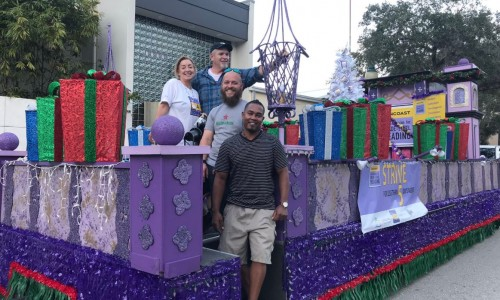Suncoast Campaign for Grade-Level Reading Sarasota Holiday Parade float