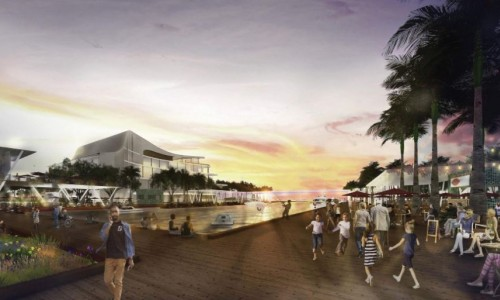 Photo: Rendering by the Sasaki design firm of part of its vision for the Sarasota Bayfront