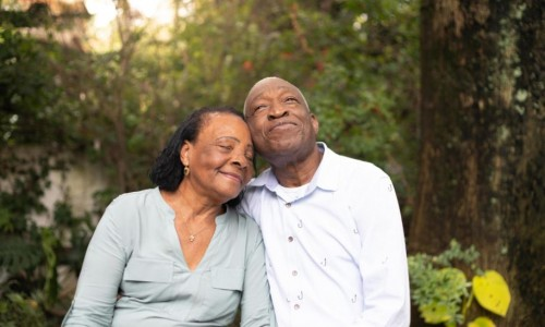 Photo: content older couple hanging out together