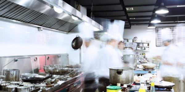 Photo: Busy cooks in the kitchen