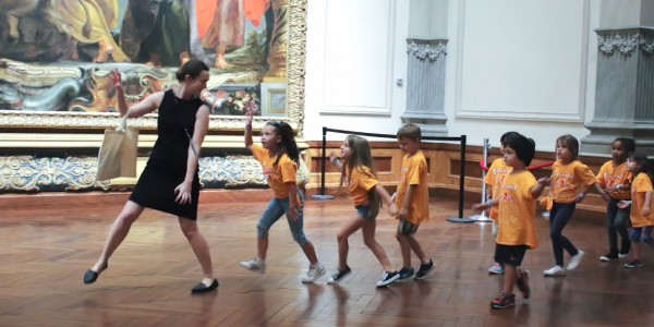 Photo: Children on an EdExploration at the Ringling Museum of Art