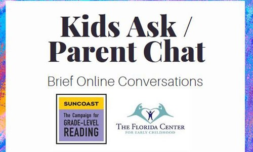 Kids Ask / Parent Chat: 3 Online Events — March 30–April 3, 2020