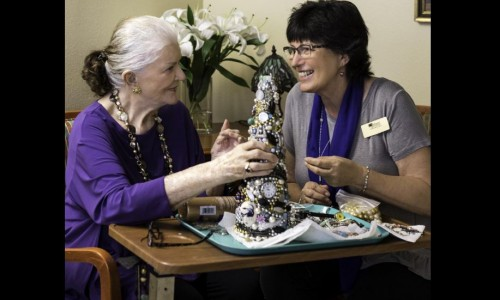 Photo: many older adults find a strong sense of community and increase socialization after moving to assisted living