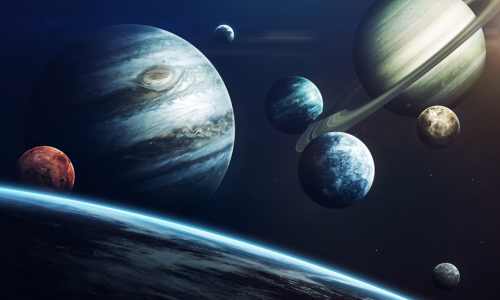 Photo: Planets in outer space