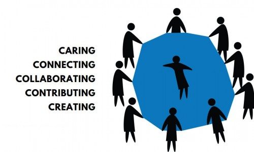 Photo: Caring, Connecting, Collaborating, Contributing, Creating