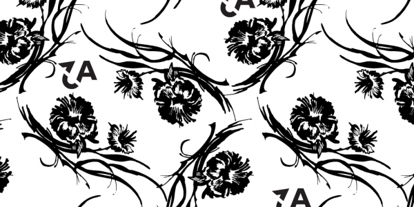 Flower print with Aspirations to Actions logo